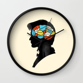 Doctor Phrenology Wall Clock