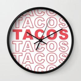 Taco Taco Wall Clock