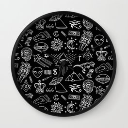 Conspiracy pattern Wall Clock