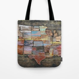 USA States Map Tote Bag