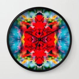 Ruby Roses Wall Clock