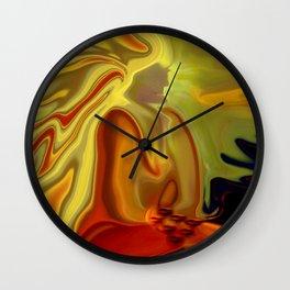 GURU IN MEDITATION Wall Clock