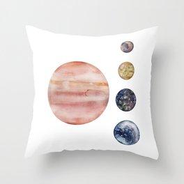 Jupiter & Moons Throw Pillow