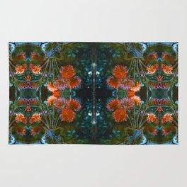 Dahlias Photographic Pattern #1 Rug