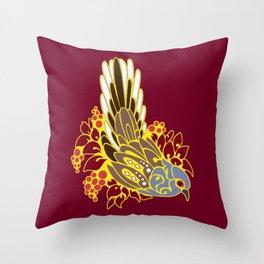 Diamond dove bird tribal tattoo Throw Pillow