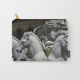Horses Of Neptunes Fountain , Florence Italy Carry-All Pouch