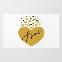 Love is Gold Rug