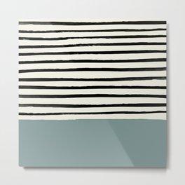 River Stone & Stripes Metal Print