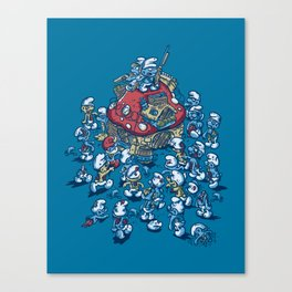 Blue Horde Canvas Print