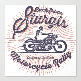 Back From Sturgis Canvas Print
