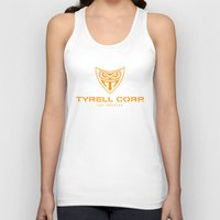 blade runner Tank Tops featuring BLADE RUNNER - Tyrell Corporation by La Cantina