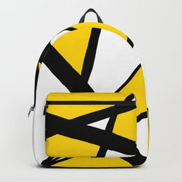 Sunshine Yellow Geometric Triangles Abstract Backpack