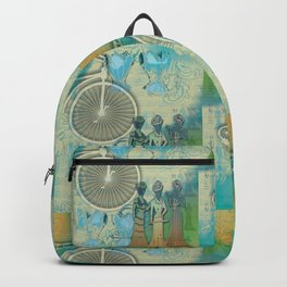 Vintage Bicycle and Corsets Backpack