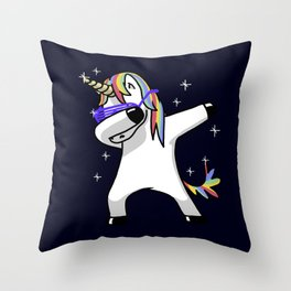 Dabbing Unicorn Shirt Dab Hip Hop Funny Magic Throw Pillow