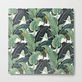 banana leaf pattern Metal Print