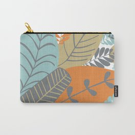 Bright Tropical Leaf Retro Mid Century Modern Carry-All Pouch