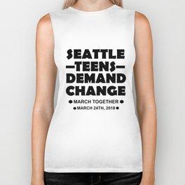 Seattle Teens Demand Change March 24th 2018 Tshirt Gift Biker Tank