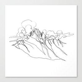 Alpha - Single Line Canvas Print