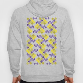 Mozaic pattern in faux gold, yellow, purple and navy indigo Hoody