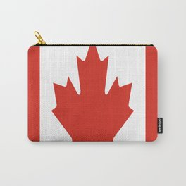 red maple leaf flag of Canada Carry-All Pouch