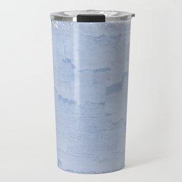 Rustic pale blue parchment paper Travel Mug