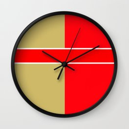 Team Colors 6...red,gold Wall Clock