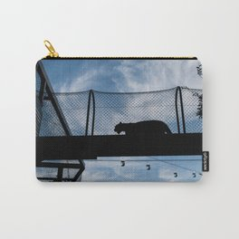 Silhouette of a Medium Sized Cat Carry-All Pouch