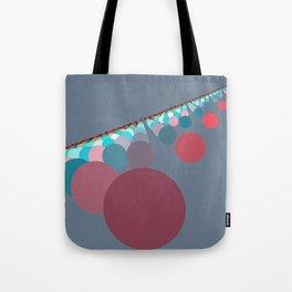 Floating Discs on Grey (B) Tote Bag