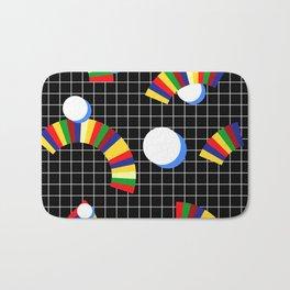 Memphis Grid & Rainbows Bath Mat