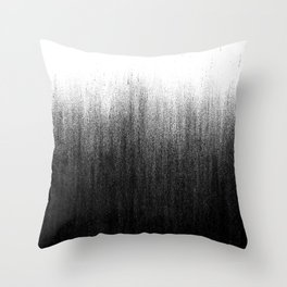 Charcoal Ombré Throw Pillow