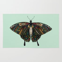 swallowtail butterfly mint Rug