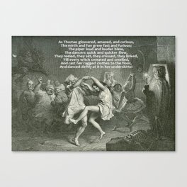 Tam O'Shanter Burns Night Celebrations Canvas Print