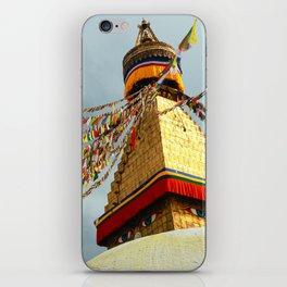 Boudhanath stupa in Nepal iPhone Skin