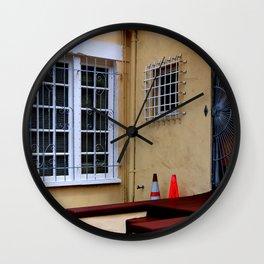 Caution - Break-ins Not Advised Wall Clock