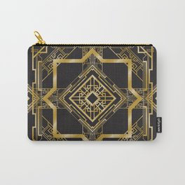 Art Deco Geometric Pattern Carry-All Pouch