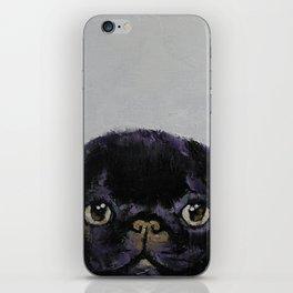Black Pug iPhone Skin
