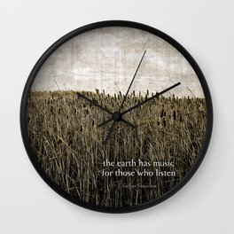 ecology {the earth has music Wall Clock