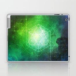 Abstract Deep Space Portal Blue-Green Laptop & iPad Skin