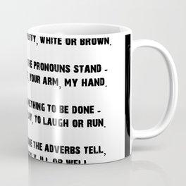 Parts of Speech Rhyme Coffee Mug