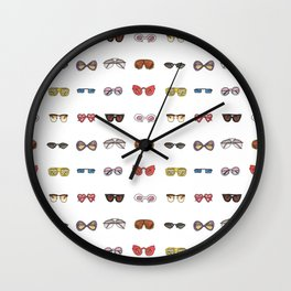 Retro sunglasses Wall Clock