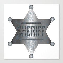 Sheriff Badge Canvas Print