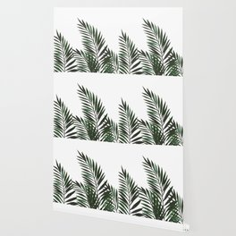 Palm Leaves Green Wallpaper