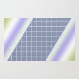 Colorful diagonal stripes . 2 Rug