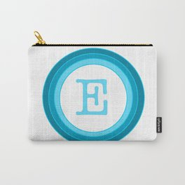 Blue letter E Carry-All Pouch
