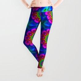 Flower  rainbow-colored Leggings