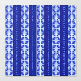 Shibori strips Canvas Print