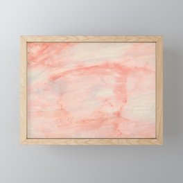 Dramaqueen - Pink Marble Poster Framed Mini Art Print