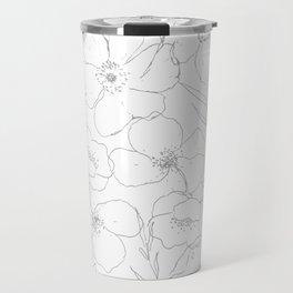 Floral Simplicity - Gray Travel Mug