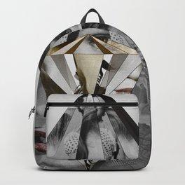 Marilyn Diamond Monroe Photo Collage Abstract Art Backpack