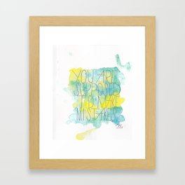 Mistakes Quote Framed Art Print